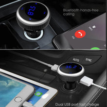 AGPTEK® Wireless In-Car Bluetooth 4.2 FM Transmitter Radio Adapter Car Kit with Faster USB Car Charger And Hands Free Calling, Support TF Card&USB Flash Disk Play