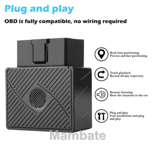 OBD II GPS GPRS Tracker Real Time Vehicle Tracking Device for Car Truck Locator