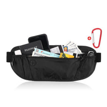 FITNATE Black Travel Money Wallet Belt Pouch Blocking Hidden Passport Holder Bag