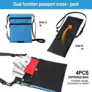 FITNATE Travel Neck Wallet Lightweight Passport Holder Waterproof Hidden Pouch