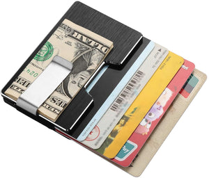 FITNATE Money Clip Carbon Fiber Wallet Pocket RIFD Blocking Card Holder Minimalist