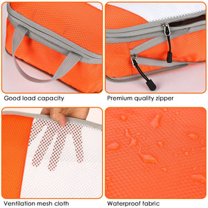 4PCS Orange Travel Suitcase Storage Bag Set Luggage Organizer Bags Clothes Packing Cube
