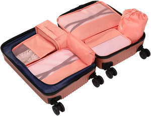 7 Packing Cubes Travel Storage Bag Lightweight and Durable, Luggage Organizer Compression for Travel Home