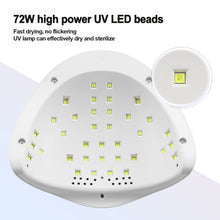 White LED Nail Lamp 48W UV LED Gel Nail Lamp with 4 Timers 10s/30s/60s/99s Auto Sensor