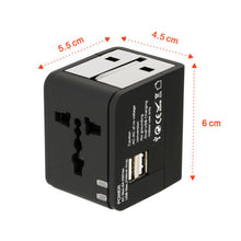 US EU UK AU Travel Universal Adapter USB Charger Type-C AC Wall Plug Converter