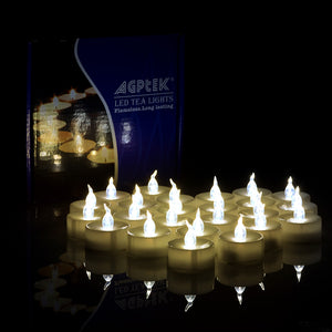 100pcs LED Flickering Candles Tea Light Warm White Flameless Smokeless Flashing