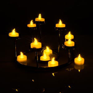 100pcs Amber Yellow LED Candle Tea Light Flameless Steady Tealight