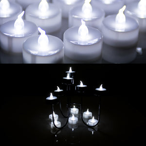 100pcs Cool White LED Candle Tea Light Flameless Flickering Flashing Tealight