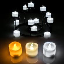 AGPtek 6 PCS LED Flameless Flickering Tea Light Candles Battery Operated White For Wedding