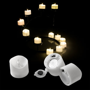 LED Tealight Candles Battery Operated Flameless smokeless Flickering Flashing Lot 6 PCS for Wedding/Party Decorations Warm White