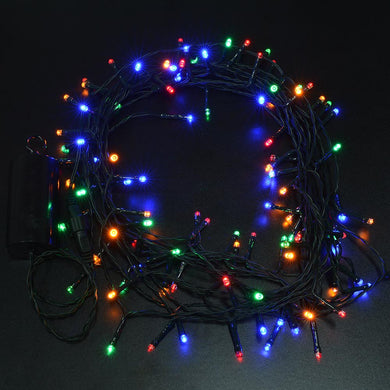 Solar string fair Lights 13M/42FT 100 LED 8 model 2400mah high capacity battery starry fair lights for indoor/outdoor decorations Christmas fair Lighting for outdoor Garden, Patio, Party, Waterproof . multi-color color