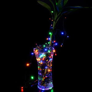 Solar string fair Lights 13M/42FT 100 LED£¬8 model 2400mah high capacity battery starry fair lights for indoor/outdoor decorations Christmas fair Lighting for outdoor Garden, Patio, Party, Waterproof . multi-color color