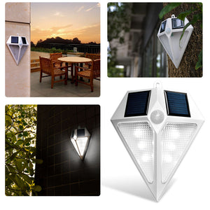 AGPTEK 6 Leds Waterproof LED Solar Led Light Lamps Solar Wall Lamps Solar Lights for Outdoors
