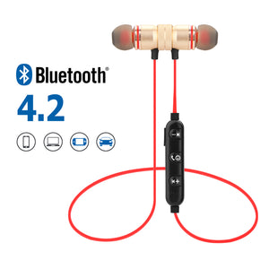 Metal Magnetic Wireless Bluetooth Earphone Sports Headset Stereo Bass Headphone