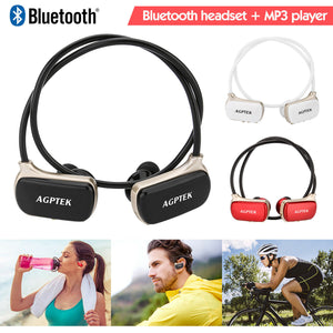 2 in 1 Sports MP3 Player Waterproof Stereo Bluetooth Headsets Earphone 16GB