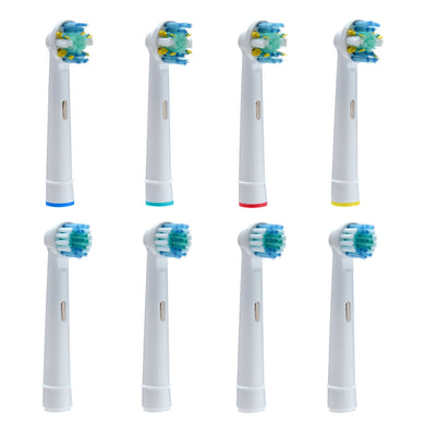 8pack Generic Oralb-B Braun Electric Toothbrush Heads Replacement Round Soft