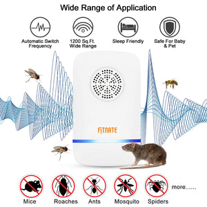 6X Electronic Ultrasonic Pest Repeller Plug In Repellent Rat Mouse Spider Insect