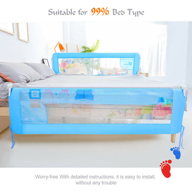 Safety Bed Rail 180cm Foldable Baby Child Toddler Anti Falling Guard New