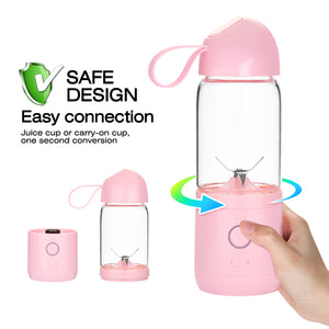 550ML USB Portable Mixer Rechargeable Juicer Fruit Blender Juicer Shaker Bottle