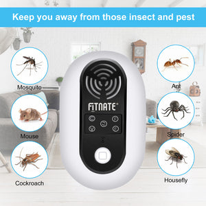 1pc Ultrasonic Pest Repeller Noiseless Plug In Spiders Mosquitoes Mouse Repellent