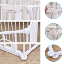 10 ft Wide Baby Gate Playard Satey Rail Fence Barrier Room Divider 5 Panels