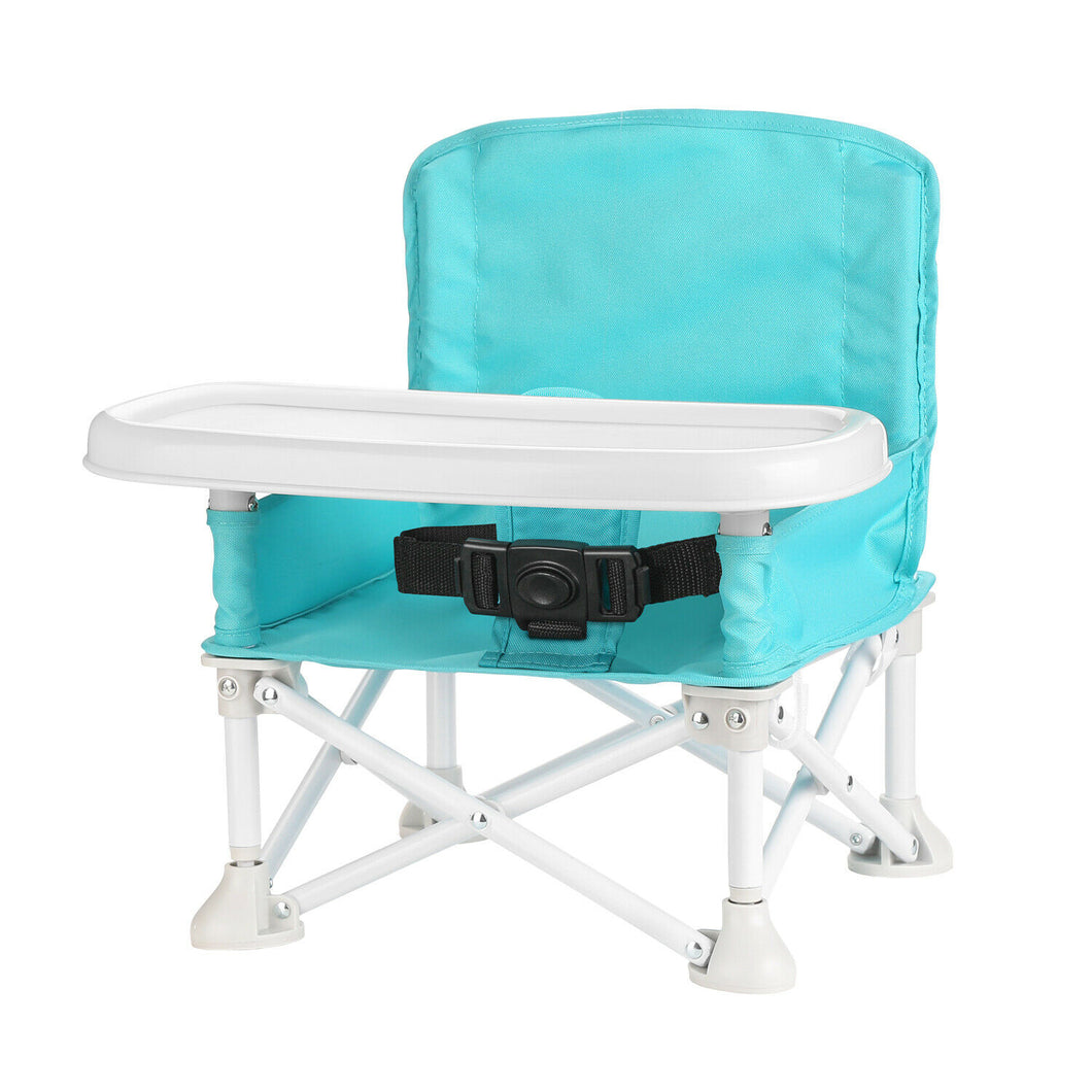 ODOLAND Folding Portable Travel High Chairs Booster Seat w/ Tray for Baby Infant