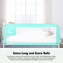 ODOLAND 70inch Green Bed Rail Extra Long Vertical Lifting Safety Bed Rail Assist for Crib Kids