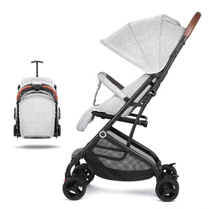 Gray Baby Stroller Carriage Buggy Lightweight Foldable Cynebaby Strollers for Infant