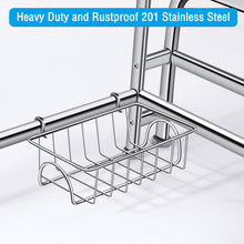 Large Dish Over Sink Rack Drain Drying Holder Shelf Organizer Stainless Steel