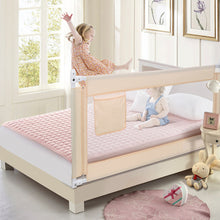 Odoland 70in Foldable Baby Toddler Safety Bed Rail Anti Falling Guard Beige New