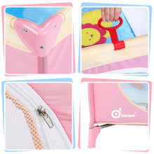 Pink 39''x 39'' Infant Toddler Foldable Playpen Playard Mattress Safety Rail Fence