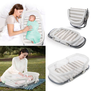 Portable Baby Bedside Sleepers Lounger Infant Bassinet Sleeping Bed for Napping