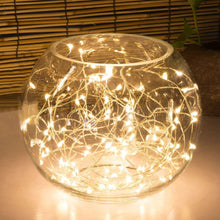 1pc Yellow 5M/6.6ft 50 LED Copper Wire String Fairy Lights Battery Operated