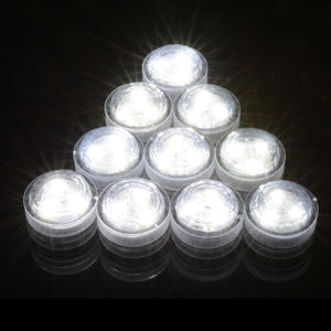 SUBMERSIBLE LED LIGHT TRIPLE DOME TEA LIGHTS BRIGHT PARTY FLORALYTE WATER PROOF