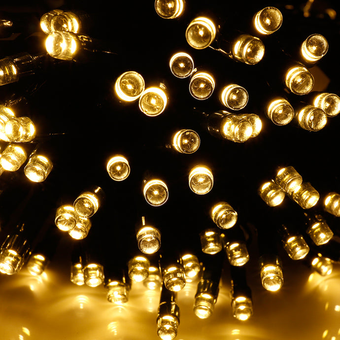 Solar string fair Lights 13M/42FT 100 LED£¬8 model 2400mah high capacity battery starry fair lights for indoor/outdoor decorations Christmas fair Lighting for outdoor Garden, Patio, Party, Waterproof . Warm white color