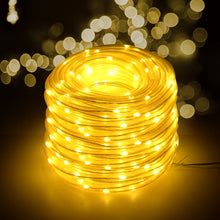 13M 42.6FT 100LED Fairy String Rope Lights Solar Panel Power Waterproof Outdoor