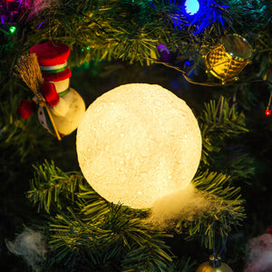 Rechargeable Moon Lamp Night Light Kids Dimmable LED Touch Changing Light
