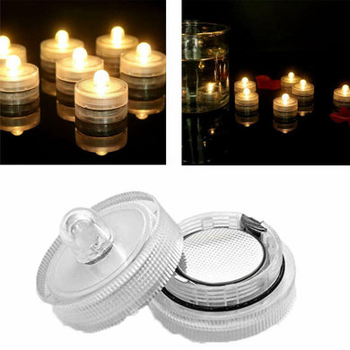10PCS Warm White Submersible Waterproof LED Tea Lights Flameless Candles
