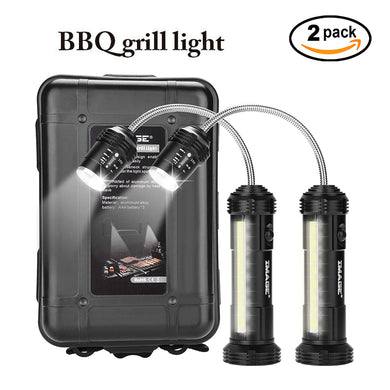 2pack 360º BBQ Grill Lights Side LED Magnetic Base Barbecue Lamp Set Upgrated