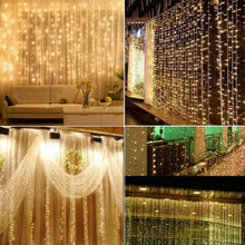 3M 10ft 300LED String Fairy Lights Curtain Christmas Wedding Decor Warm White