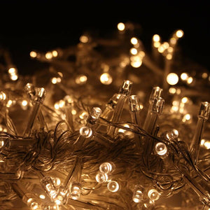 24Mx3M 2400 LED Warm White Fairy String Light Curtain Lights With Plug-in Controller