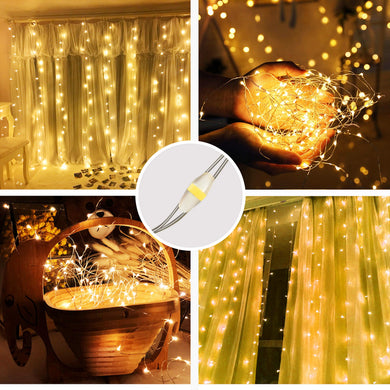 Warm White  USB Remote Control 3*3M 300LED String Lights Waterproof