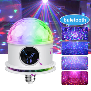 Bluetooth RGB Disco Party Light LED Stage BallLight KTV Strobe DJ Activated Lamp
