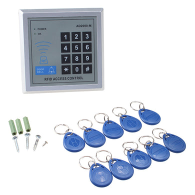 Security RFID Proximity Door Entry keypad for Access Control System with 10 Key Fobs