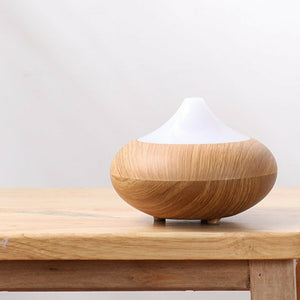 Ultrasonic Air Aromatherapy Essential Oil Diffuser LED lights Light Wood Grain