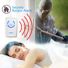 4 in 1 Wireless Door Bell Doorbell with Blue LED Indicator 36 Chimes 16bit Soft Sound Loud Ring 150m Distance AGPTEK