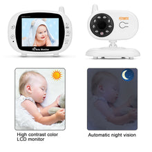 "3.5"" Audio Video Baby Monitor Wireless Digital Camera Night Vision Safety Viewer"
