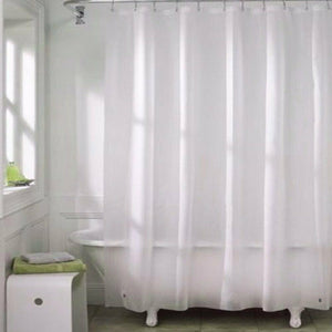 Shower Curtains Mould proof Resistant Washable Curtain Liner 71*71in Drop White