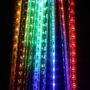30cm 8 Tube 144 LEDs RGB Multi-color color Meteor Shower Rain Lights Waterproof String for Wedding Party Christmas Xmas Decoration Tree