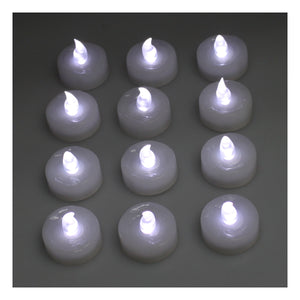 60pcs Cool White LED Candle Light Flameless Tealight Coin Battery Operated Party